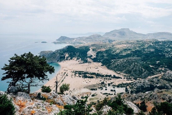 architecture beach city coast coastline forest hill
