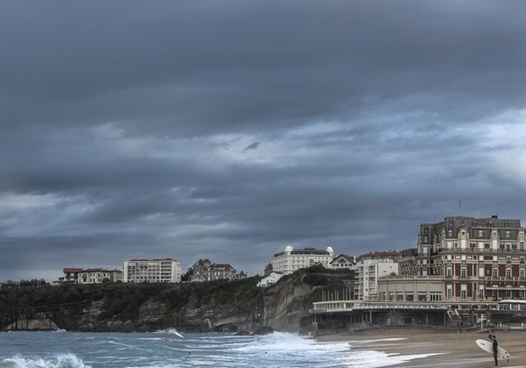 architecture beach city coast daytime horizontal