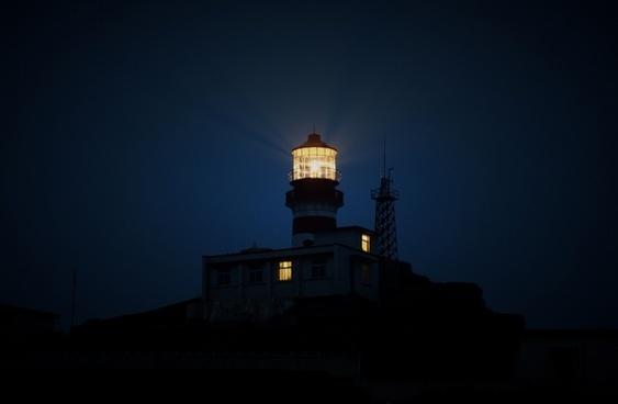 architecture beacon dark dusk evening guidance lamp