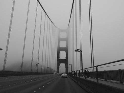 architecture black and white bridge building car city