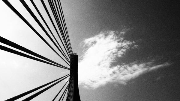 architecture black and white bridge building city