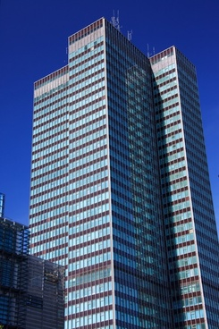 architecture blue building