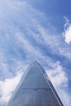 architecture blue sky bright business cloud freedom