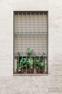 architecture brick design dirty door empty exterior