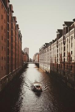 architecture bridge building canal city daytime