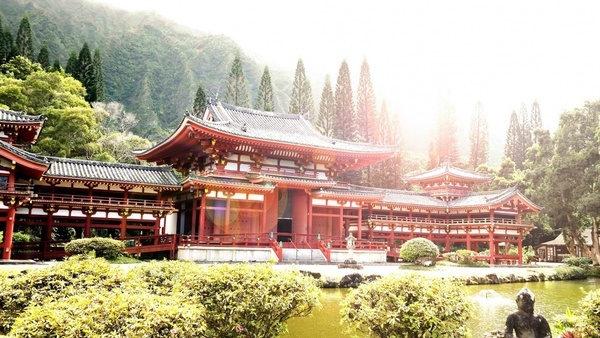 architecture buddhist building color culture garden