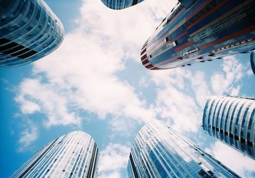 architecture building business city cityscape cloud