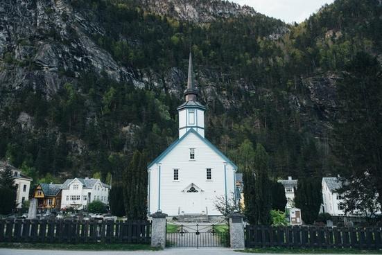 architecture building church city cross hill