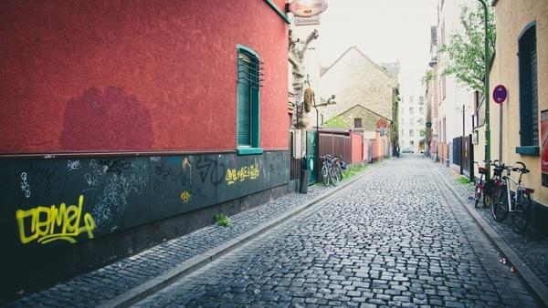 architecture building city color daytime graffiti