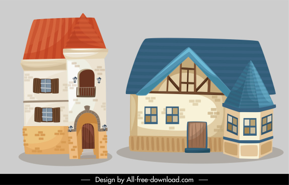 architecture exterior templates classical european design 3d sketch