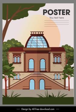architecture poster elegant classic flat sketch