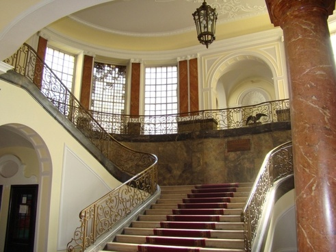 architecture stairway columns