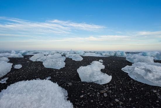 arctic coast cold frozen ice lake landscape melting