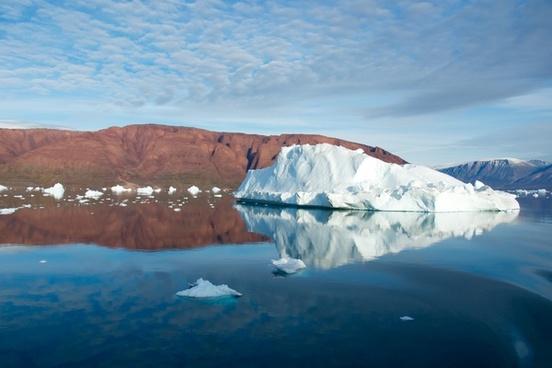 arctic cold frozen glacier greenland ice iceberg