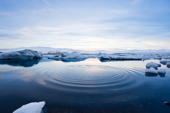 arctic frozen ice iceberg lake landscape mountain