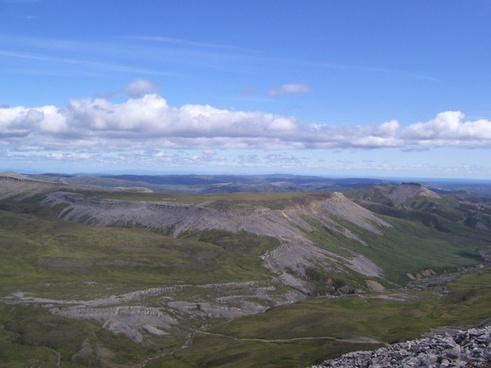 arctic plateau and stream valley