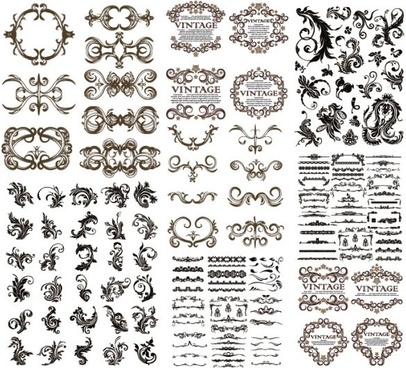 are hundreds of gorgeous european pattern vector