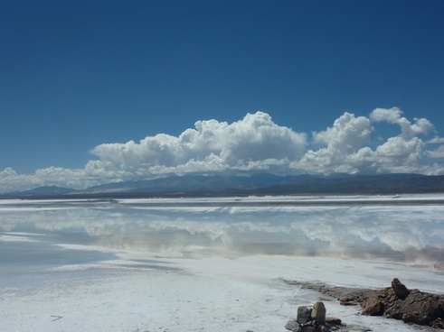 argentina salt flats clouds