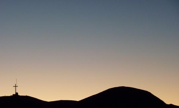 argentina sunset at desert andes