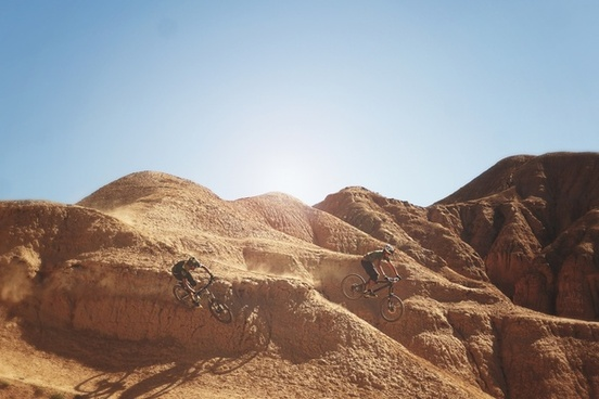 arid daytime desert dry geology hill landscape
