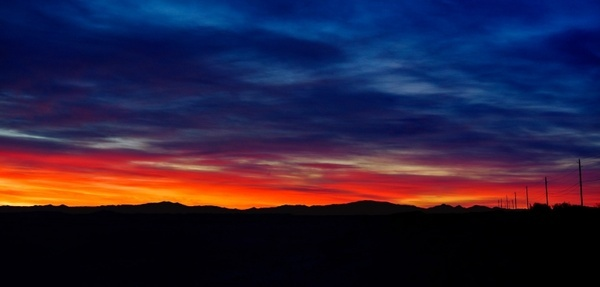 arizona sunrise panorama