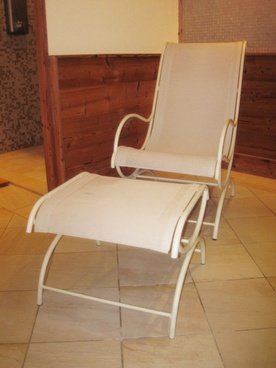armchair in sauna