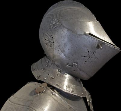 armor metal helmet