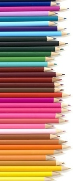 arranged in colored pencil picture