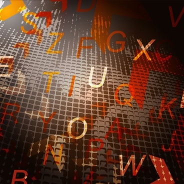 decorative background template modern dynamic texts dark grunge