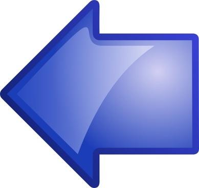 Arrow Blue Left clip art