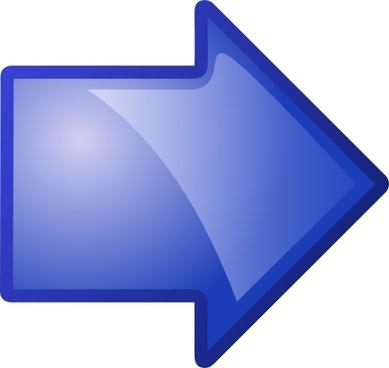 Arrow Blue Right clip art