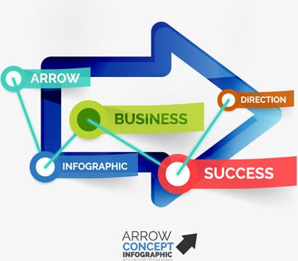 arrow concept infographics vector