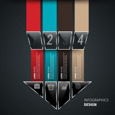 arrow infographic design geometric style decoration