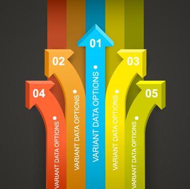 arrow infographics template vector
