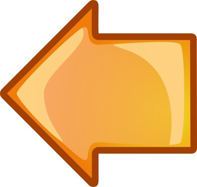 Arrow Orange Left clip art