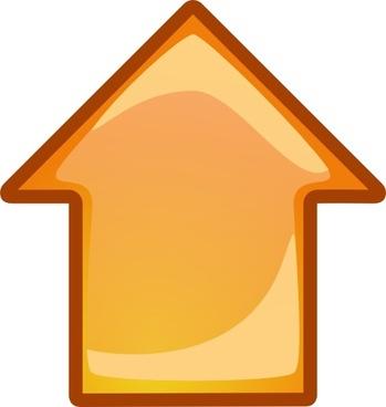 Arrow Orange Up clip art