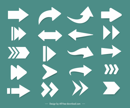arrow signs templates flat shapes sketch