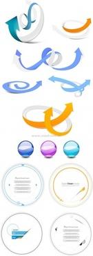 arrow vector card crystal ball