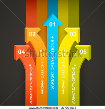 arrows with number infographic vector