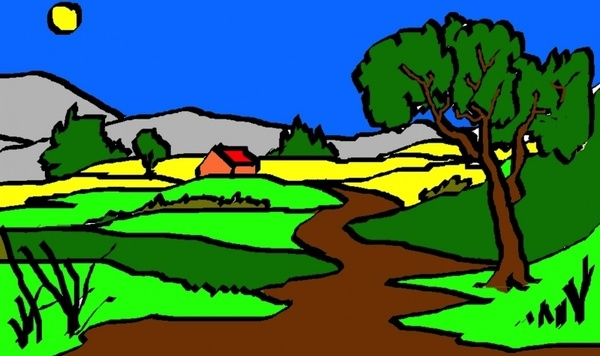 art drawing landscape