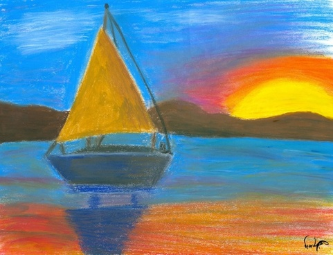art frame pastel