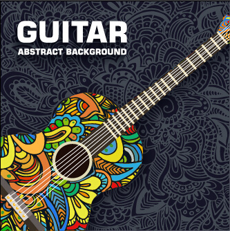 art guitar abstract background vector