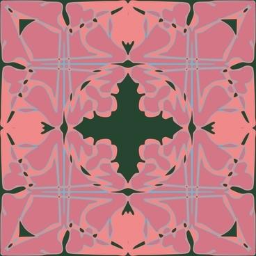 Art Nouveau Tile Pattern clip art