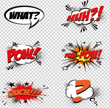 art objects comics logos vector
