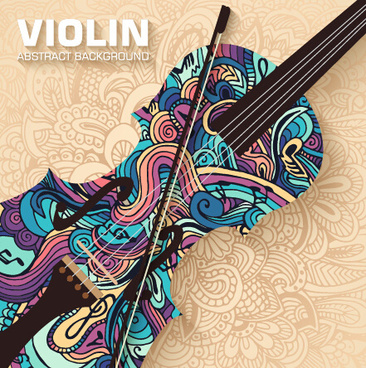 Art Violin Abstract Background Vector
