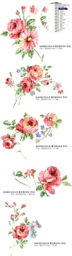 artcity fashion watercolor effect floral psd layered