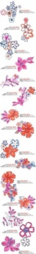 artcity handpainted fashion floral pattern psd layered
