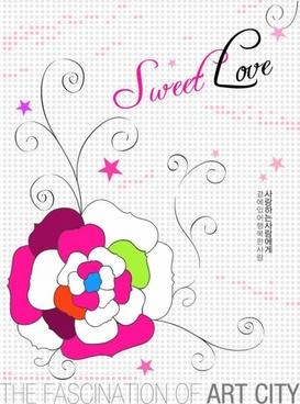 artcity handpainted flower psd layered 4