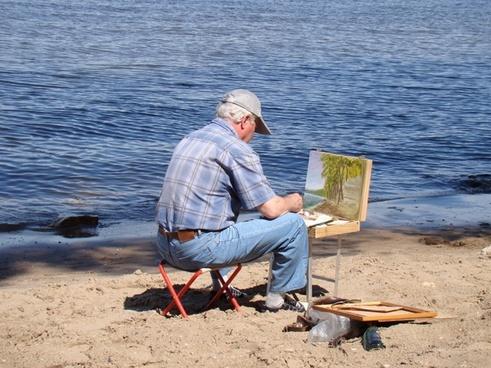 artist river beach