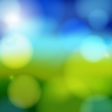 artistic blue bokeh vector background